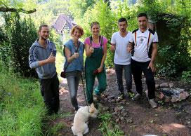 """Das Team des Projekts """"Bunte Gärten"""" Am Hain"""