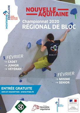 Championnat régional de bloc - 01 et 02 février 2020 à Germignac