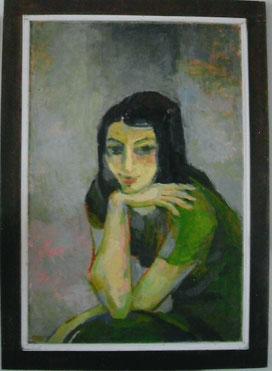 Lu gemalt von Ecke Kempin, 1972