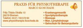Marco Koschade Praxis für Physiotherapie - Werbegemeinschaft Habenhausen-Arsten