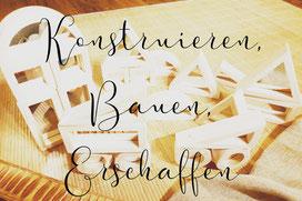 Konstruieren, Bauen, Erschaffen, für kleine Baumeister, Happy Architect von Eduplay, Beschriftbar mit Kreide