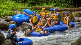 Arenal Combo Tour:  Tubing and Canopy Tour