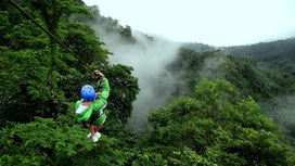 Arenal one day combo tour:  Tubing & Zip lining