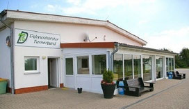 Bild zeigt eine Aussenaufnahme des Studios / Vereinsheim des Delmenhorster Turnerbundes DTB, Ju-Jutsu