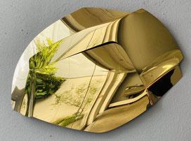 AXEL ANKLAM, Bahn, aus der Serie: CLIMES, 2016, Edelstahl titanbeschichtet, 57 x 43 x 6 cm, Unikatedition, € 3.100,--
