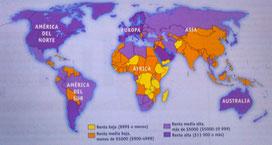 PIB per cápita mundial: diferencias abismales??