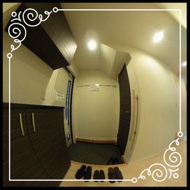 玄関②室内より↓360°画像によるバーチャル内覧はこちら。↓ANIMATO102号室