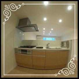 キッチン↓360°画像によるバーチャル内覧はこちら。↓ANIMATO102号室