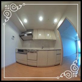 キッチン①↓360°画像によるバーチャル内覧はこちら。↓D'グラフォート札幌ステーションタワー1702号室