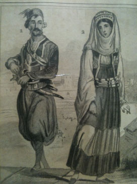 Traditional Maniat dresses (ca. 1800)