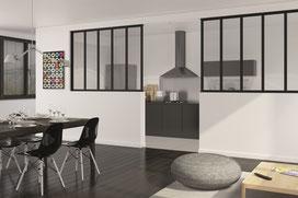 Ambiance Dresse - Verrière Fixe noir vitre feuilletée