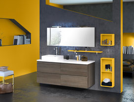 ©Discac, salle de bain LOFT Orme brun et citron