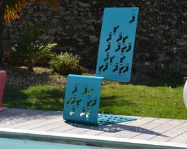©IDfer, chaise en métal SET ON, mobilier design