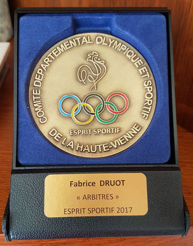 Médaille Esprit Sportif 2017