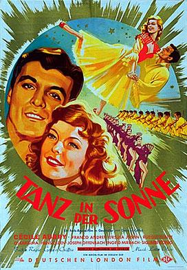 affiche du film Tanz in der Sonne (Danser au soleil) 1954 avec Cécile Aubry © filmposter-archiv.de