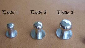 Comparaison des tailles de boutons de col