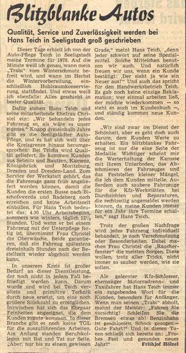 Bild: Seeligstadt Chronik 1977