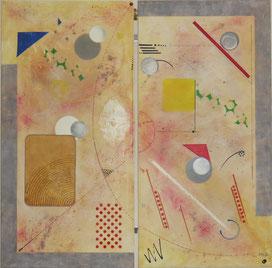 circuit imprimé - daluz galego tableau abstrait abstraction