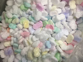 Чипсы  попкорн воздушный из пенопласта   засыпка  сыпучие гранулы