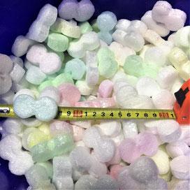 Пенопластовые кусочки чипсы из пенопласта  шарики для упаковки, хлопья для коробок, наполнитель коробок