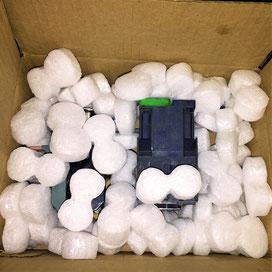 Пенопластовые гранулы для  коробок и посылок