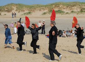 Waaiervorm tijdens Wereld Tai chi dag (Den Helder 2007)