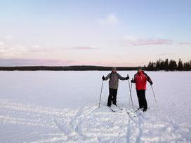 Winterurlaub in Schweden Lappland - Langlauf