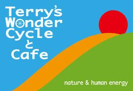 テリーズワンダーサイクルとカフェのロゴマーク