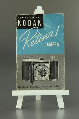 Gebrauchsanleitung englische Version Kodak Retina I   Type 010  ©  engel-art.ch