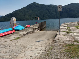 Slipstelle am Lago Maggiore