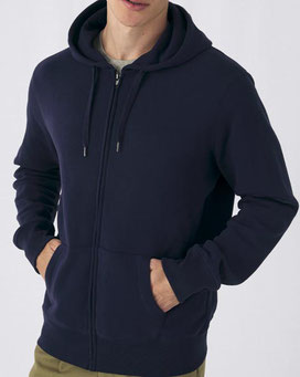 KING Zipped Hooded bedrucken