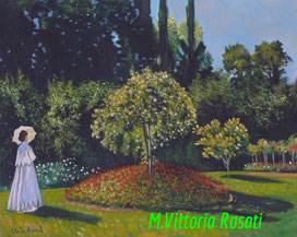 Lady in the Garden at Sainte Adresse C.Monet, oil on canvas, cm 40x50, 2014 N.D.