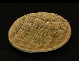灰釉丸皿(径16CmX高3Cm)