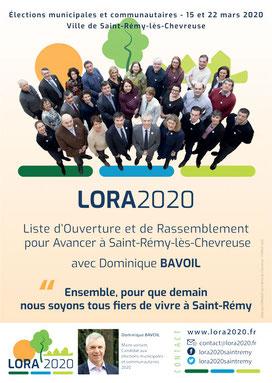 Affiche électorale D. Bavoil (2020)