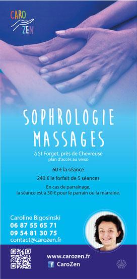 Flyer pour sophrologue - 10x21 cm (2018)