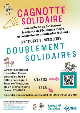 Cagnotte solidaire - La Racine Monnaie locale citoyenne (2020)