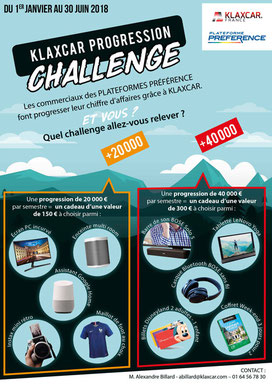 Flyer A4 pour équipementier automobile Klaxcar Francee