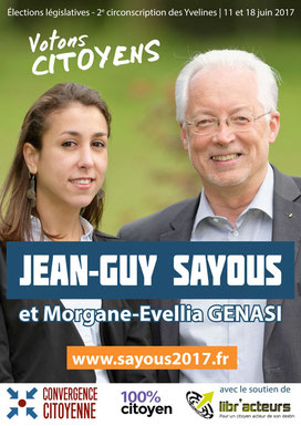 Affiche électorale J.-G. Sayous (2017)