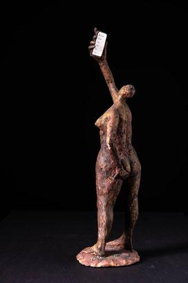 Skulptur,brauner Ton, Heinz Hermentin