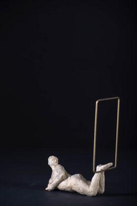 Skulptur, weißer Ton, Heinz Hermentin