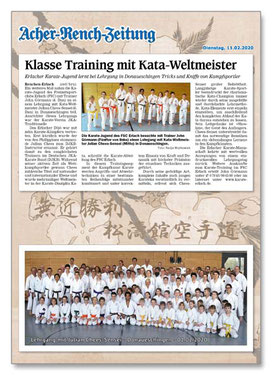 Karate Erlach, Julian Chees-Sensei, DJKB-Instructor