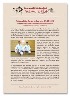 Naka-Sensei Bochum, Karate Erlach