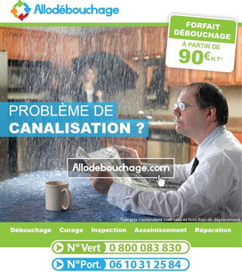 Canalisation bouchée Herault 34