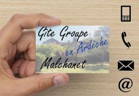 Coordonnées et contacts gite de groupe en Ardèche