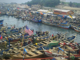 Elmina fishing harbor