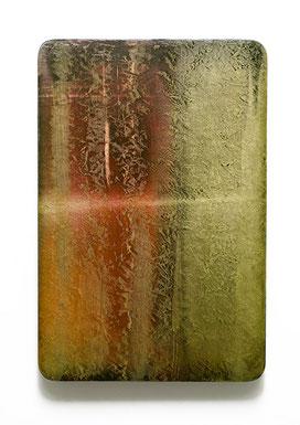 Utopischer Körper 58 (aurum) 2017 Acrylfarbe, Kunststoffsiegel, Ölfarbe auf MDF 60 x 40 cm