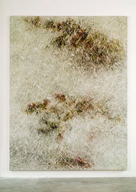 Skriptur V 2013 Kunstharz, Acrylfarbe, Ölfarbe auf Leinwand 210 x 160 cm