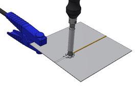 Passare sulla saldatura stessa esercitando una leggera pressione e ripassare fino a quando la saldatura non sia perfettamente pulita/lucidata