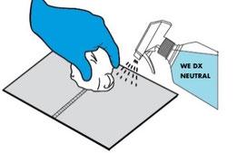 Neutralizzazione delle soluzioni acide utilizzate prima del risciacquo finale con acqua. Nello specifico si utilizzerà WE DX NEUTRAL con apposito erogatore spray