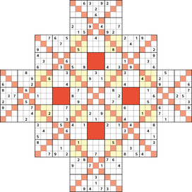 Kaiser-Sudoku © Rätselbüro Martin Simon